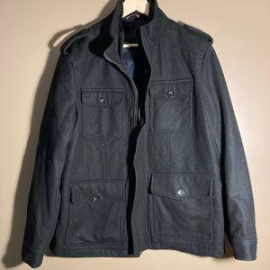 Tommy Hilfiger wool blend black coat